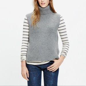 Madewell Gray Turtleneck Sweater Vest Sz XS
